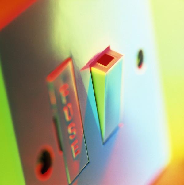 Electric Switch Print by Tek Image