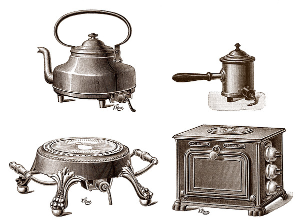 Electrical Appliances, 1900 Print by Sheila Terry