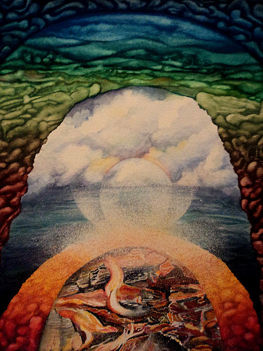 Elemetal Visions Print by Merv Scoble