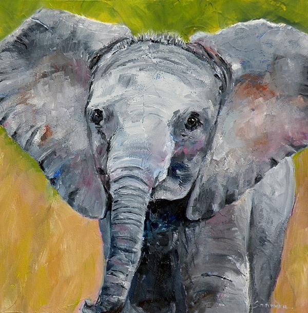 Saundra Lane Galloway - Elephant Baby
