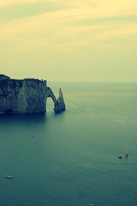 Elephant Rock In Etretat, Normandy In France Print by Photo by Ira Heuvelman-Dobrolyubova