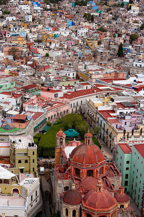 Elevated View Over The City Of Guanajuato In Mexico Print by Mint Images/ Art Wolfe