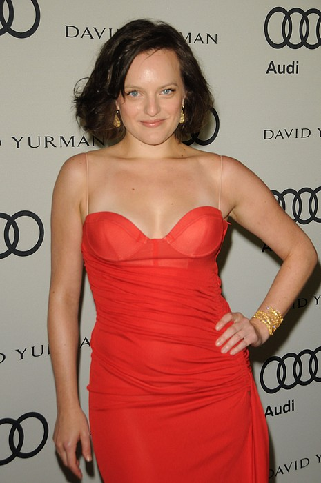 Elisabeth Moss At Arrivals For Audi Print by Everett
