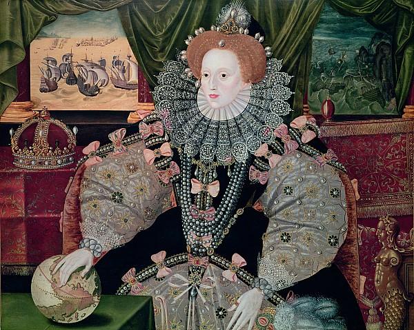 Elizabeth I Armada Portrait Print by George Gower