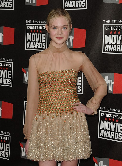 Elle Fanning Wearing Valentino Couture Print by Everett