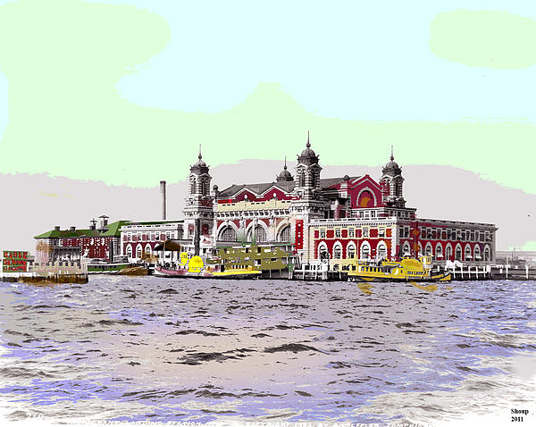 Ellis Island Print by Charles Shoup