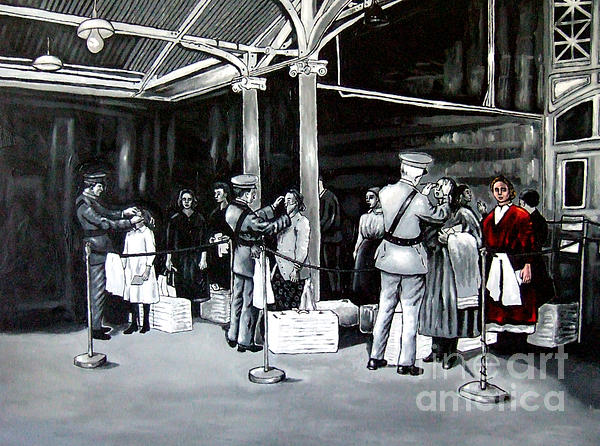 Ellis Island Print by D Rt