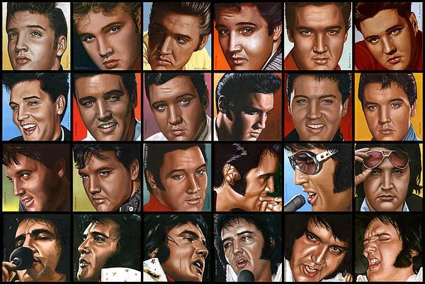 Elvis 24 Print by Rob de Vries