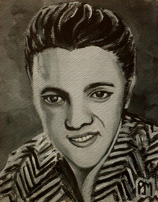 Elvis In Z Shirt Print by Pete Maier