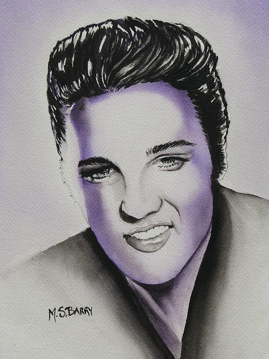 Elvis Print by Maria Barry
