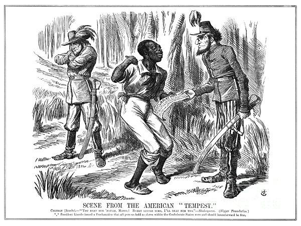 Emancipation Cartoon, 1863 Print by Granger
