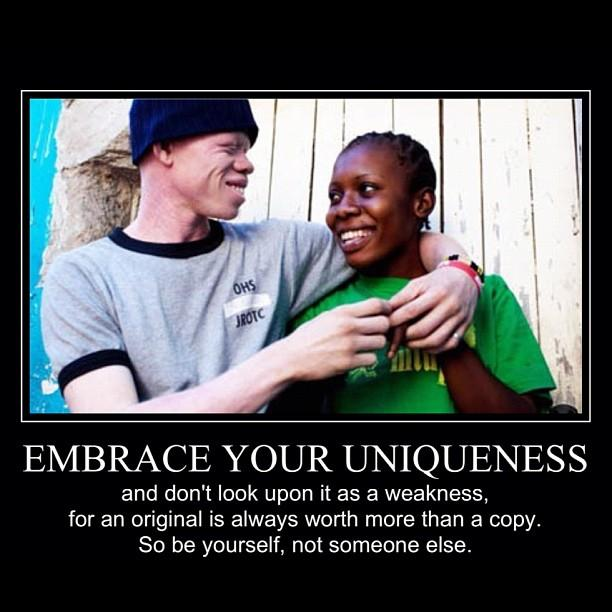 the importance of embracing the uniqueness in you The importance of individuality the individual is not ashamed of his or her flaws and unique aspects admit to, and even embrace your flaws this will help you learn to love yourself for who you are rather than feel insecure about what you are not.