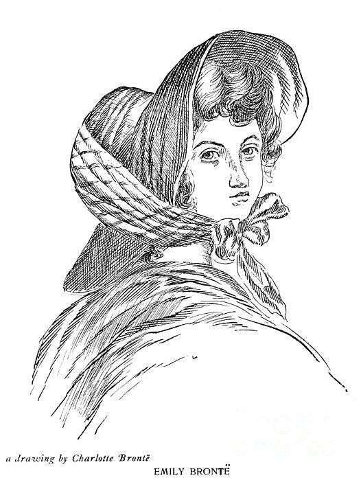 Emily Bront� (1818-1848) Print by Granger