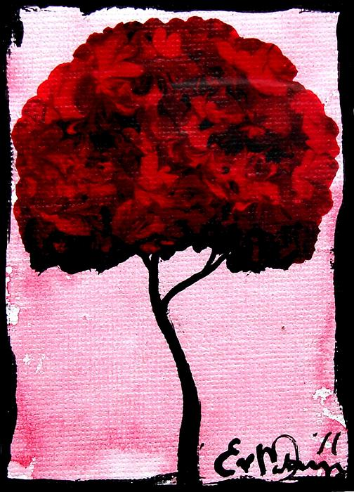 Emily's Trees Red Print by Lizzy Love of Oddball Art Co