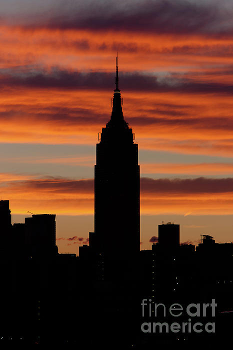 Empire State Building and Pre-Sunrise Sky Photograph