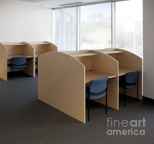 Empty Carrels Print by Will & Deni McIntyre