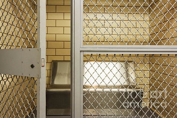Empty Jail Holding Cell Print by Jeremy Woodhouse