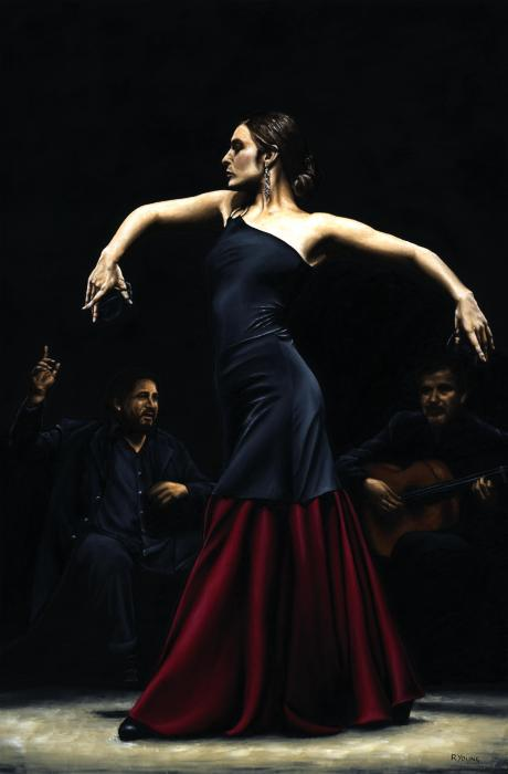 Encantado Por Flamenco Print by Richard Young