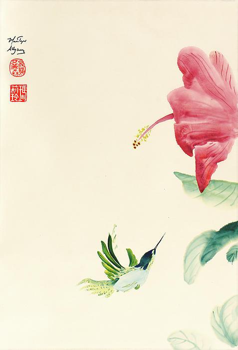 Enchanting Nectar Print by Marilyn Allysum