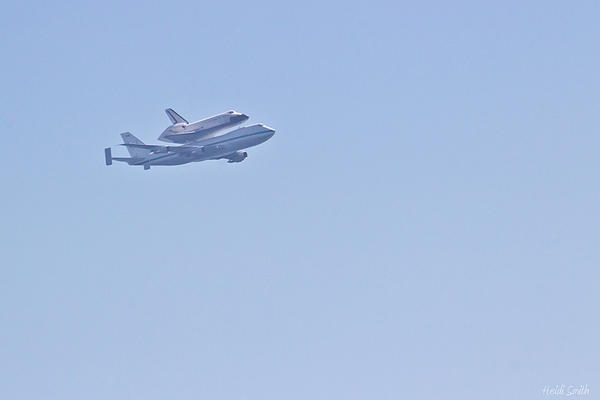Endeavour Flyover Print by Heidi Smith