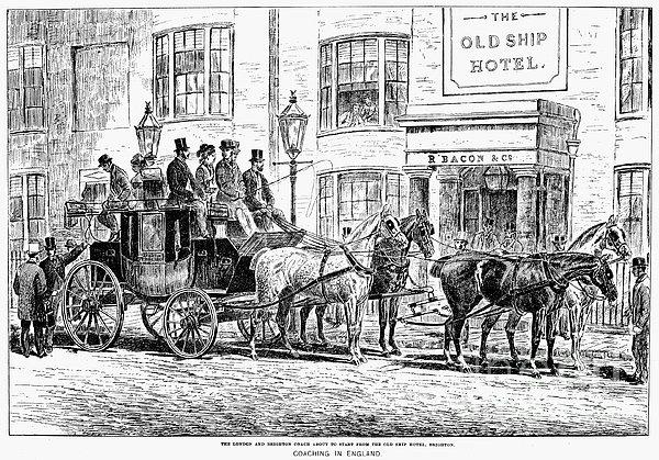 England: Coaching, 1876 Print by Granger
