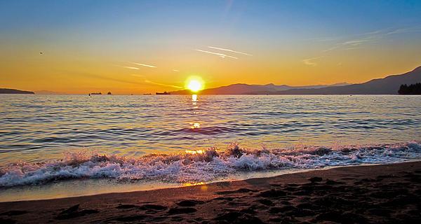 English Bay - Beach Sunset Print by Eva Kondzialkiewicz