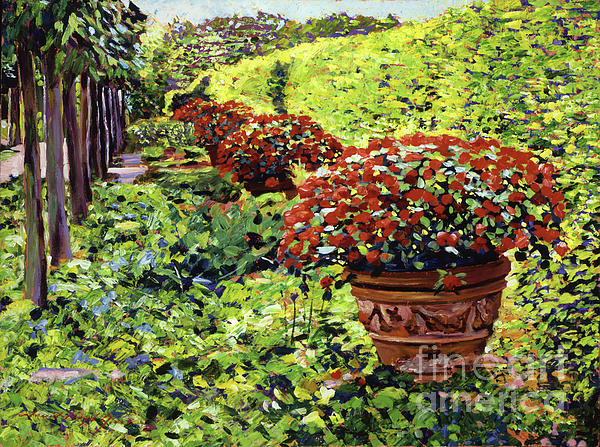 English Flower Pots Print by David Lloyd Glover