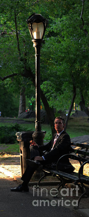 Enjoying The Moment In Central Park II Print by Lee Dos Santos