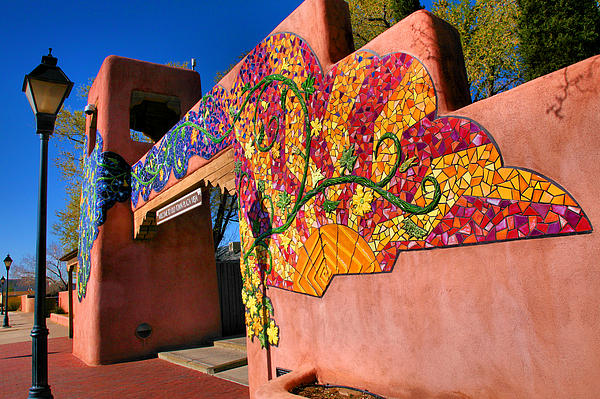 Entrance To Old Town Plaza I Print by Steven Ainsworth