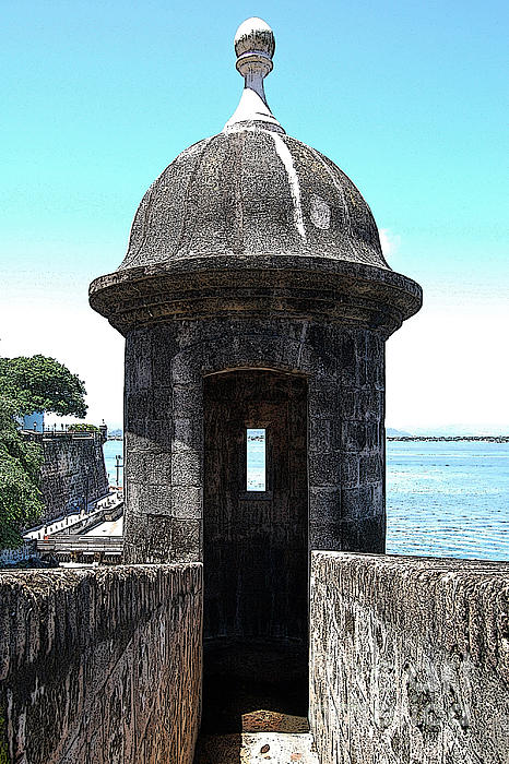 Entrance To Sentry Tower Castillo San Felipe Del Morro Fortress San Juan Puerto Rico Poster Edges Print by Shawn O'Brien