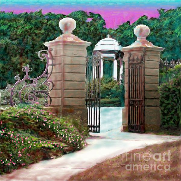 Entrance To The Garden Print by Earl Jackson
