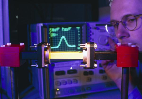 Equipment For Superluminal Microwaves Print by Volker Steger