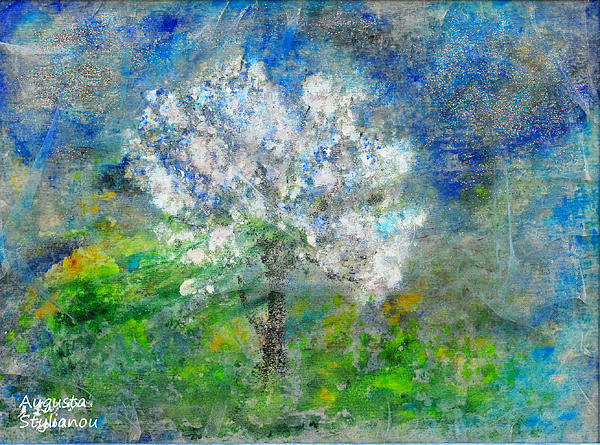 Ethereal Almond Tree Painting