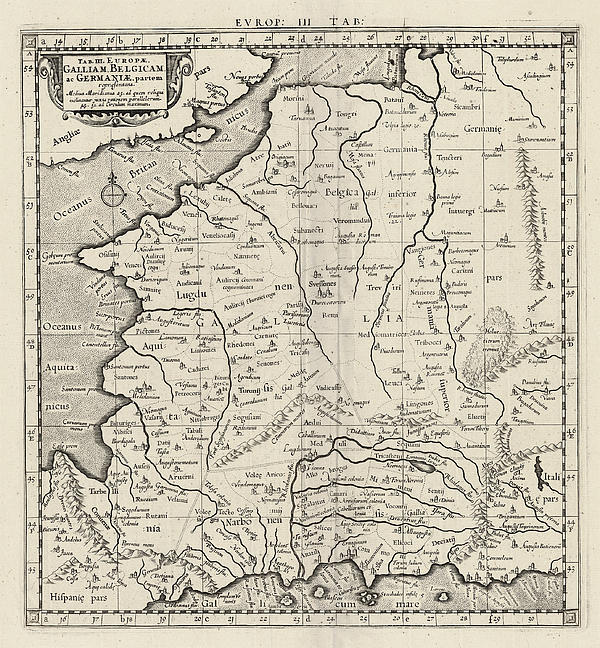 Europe Tab IIi France Print by Scott Nelson