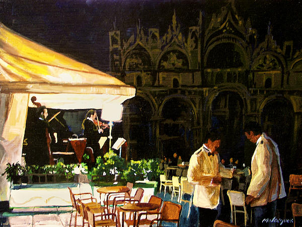 Evening In Venice Print by Michael Jacques