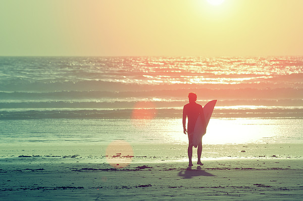 Evening Surfer Print by Paul McGee