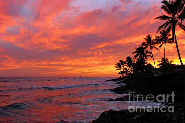 Ewa Beach Sunset Print by Clark Thompson