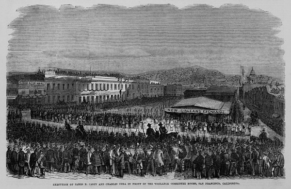 Execution Of James P. Casey And Charles Print by Everett