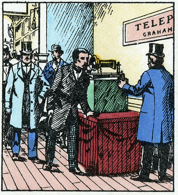 Exhibition Of Bell's Telephone, 1876 Print by Cci Archives
