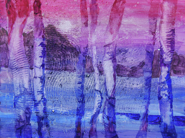 Experimantal Trees Painting  - Experimantal Trees Fine Art Print