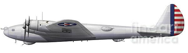 Experimental Boeing Xb-15 Bomber Print by Chris Sandham-Bailey