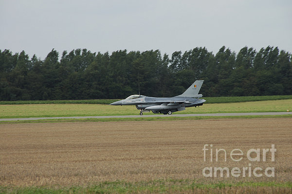 F-16 Of The Belgian Air Force Ready Print by Luc De Jaeger