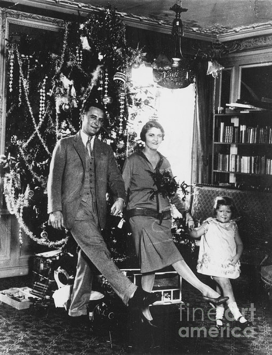 F. Scott Fitzgerald Family Print by Granger