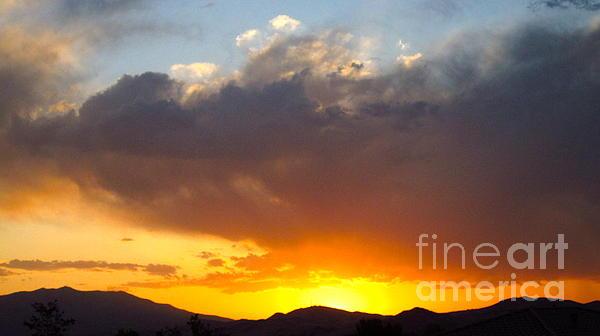 Fabulous Sunset Print by Phyllis Kaltenbach