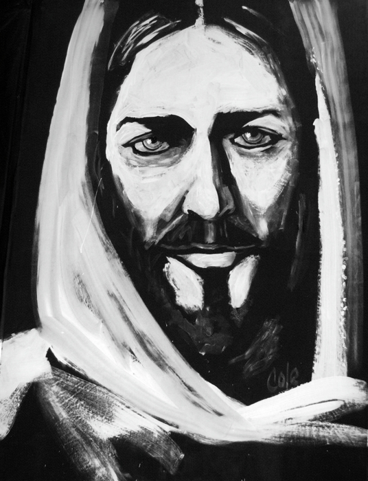 Face Of Christ Print by Larry Cole