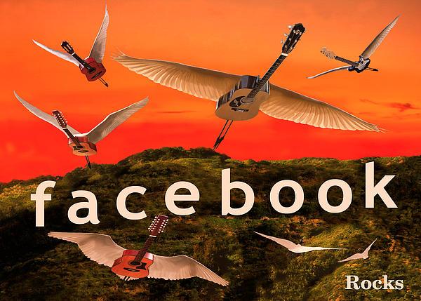 Facebook Rocks Print by Eric Kempson
