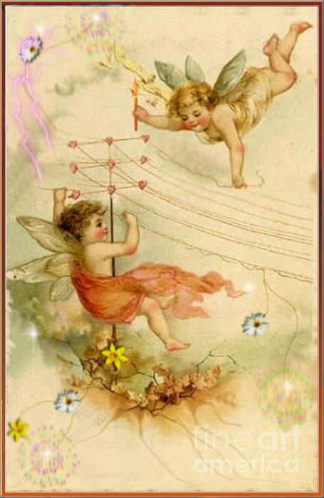 Faeries At Play Digital Art  - Faeries At Play Fine Art Print