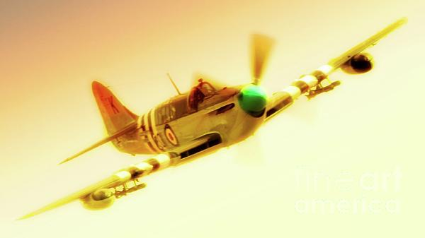Fairey Firefly Chino Planes Of Fame 2011 Print by Gus McCrea