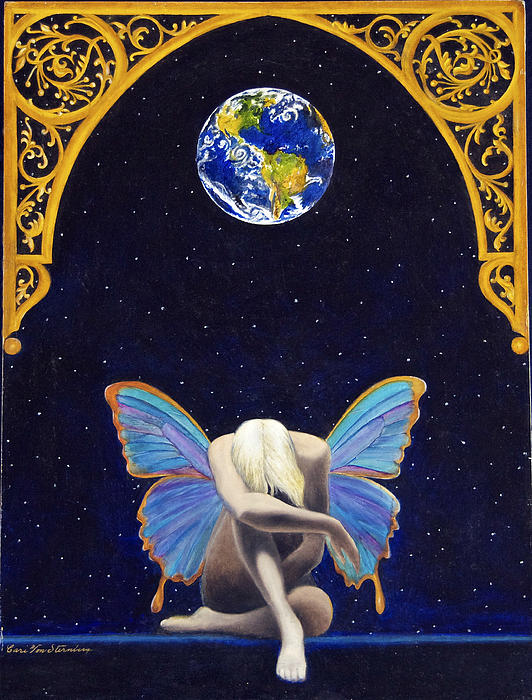 Fairies Lament Print by Cari Von Sternberg