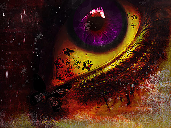 Fairy Eye Print by Yvon van der Wijk